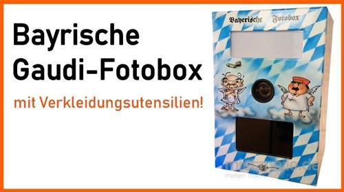 Bayrische Fotobox mit Verkleidungsutensilien mieten