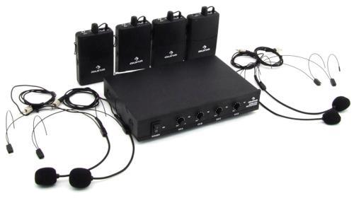4x Headset Funk-Mikrofon Set