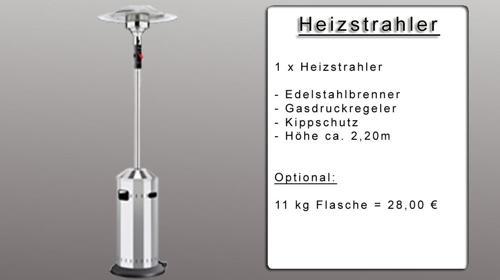 Heizstrahler mieten ab 25 €