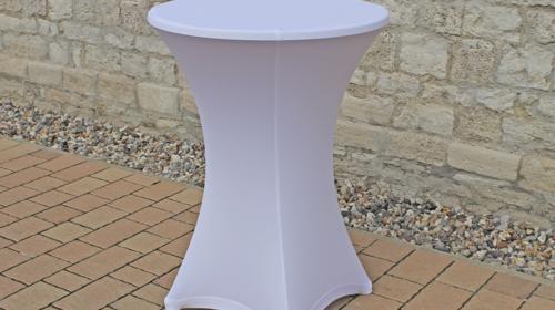 Stehtischhusse Husse für Stehtische Hussen mit Durchmesser 80cm in weiß oder schwarz