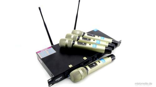 4x Funk-Handmikrofon XLR Mirkofonset