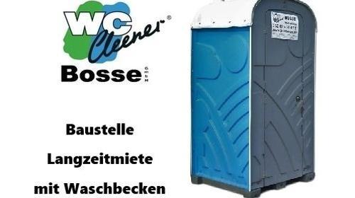 WC-Kabine, mobile Toilette mit Waschbecken, Baustellenklo