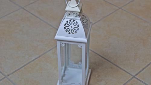 Windlicht Laterne Höhe 40cm z.B. für Vintage Tischdekoration Hochzeit