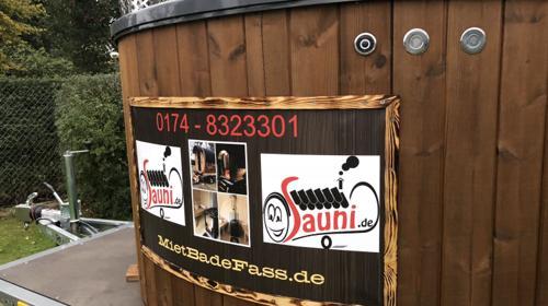 mobile Sauna Mietsauna in OHV Badefass HotTub Kautionsfrei mieten