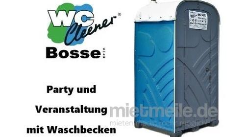 WC-Kabine, mobile Toilette mit Waschbecken, Party - Veranstaltung, Kurzzeitmiete