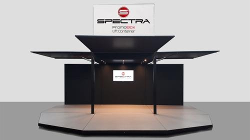 Spectra Promobox 2000 Liftcontainer - der mobile Messestand