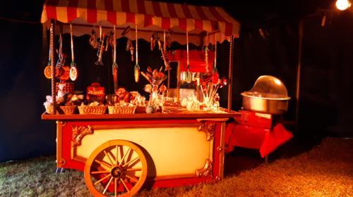 Hochzeit Party Zelt Feier Zirkus Nostalgie Theater Event Vintage Zuckerwatte Popcorn