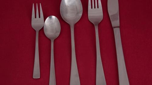 Messer, Gabel, Eßlöffel, Kaffeelöffel, Kuchengabeln basic