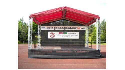 Bühne 6×4 – 24m² für Stadtfest, Kundgebung, Präsentation, Roadshow, Events, Festivals u Konzert