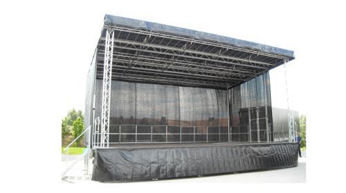 Show – Bühne 60m² – für Stadtfest, Kundgebung, Präsentation, Roadshow, Events, Konzerte u. Festivals