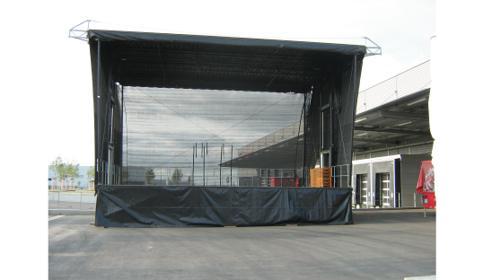 """Mobile Show - Bühne 80m²-140m²  - Bühnensystem """"Smart Stage""""  für Stadtfest, Kundgebung, Präsentation, Roadshow, Events, Festivals, Konzerte"""