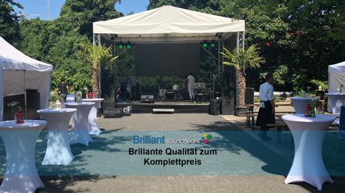Bühne 6x4 m / Open Air Bühne / Konventionelle Bühne / mobile Bühne