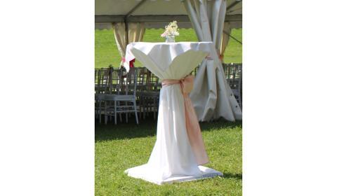 Stehtischhusse klassisch weiss - Hochzeit