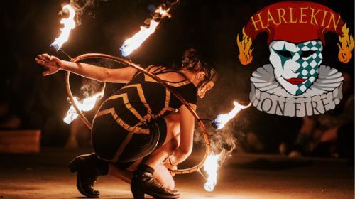 **Harlekin on Fire** - Feuershows - Lichtshows - Seifenblasen - Stelzenlauf