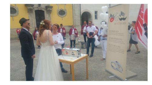 Hochzeitsspiel Heißes Herz - Überraschung nach der Trauung