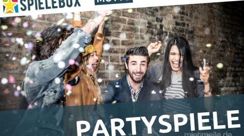 Spielebox - Partyspiele Outdoor. Spiele fürs Feiern zu Hause oder im Garten.