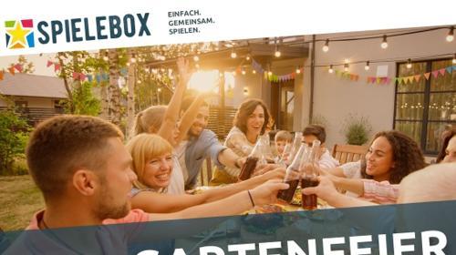 Spielebox - Gartenfeier. Spiele für Ihre Feier im Garten unter freiem Himmel.