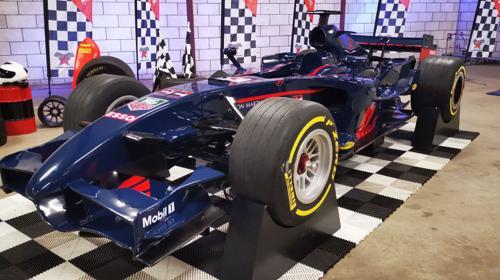 Blauer Formel 1 Rennsimulator komplett inkl. Begleitung