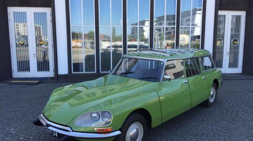 Ciroen ID20F Break Oldtimer DS grün Selbstfahren oder mit Fahrer für die Hochzeit