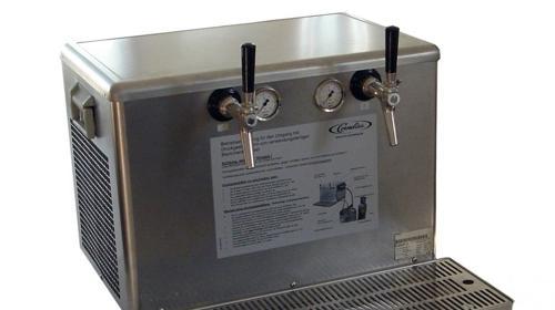 Bierdurchlaufkühler, Zapfanlage 2- Leitig Cornelius