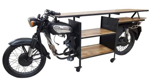 Stylische Motorradbar