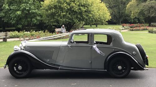 Bentley Hochzeitsauto Oldtimer mit Chauffeur