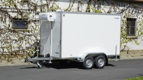 POKOMON (doppelachser)  Kühlanhänger 2700 kg doppelachser 3453 x 1550 x 2000 mm bis plus 2°C Kühlung – 100 km/h