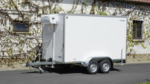 Jimboo (doppelachser – breite Ausführung)  Kühlanhänger 2700 kg doppelachser 3453 x 1786 x 2000 mm bis plus 2°C Kühlung – 100 km/h