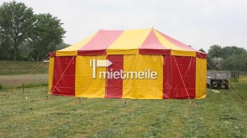 Zirkuszelt / Circuszelt in 7,50x11,50m (oval, mit zwei Masten)