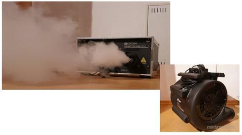 Hochleistungs-Nebelmaschine 1700W + Windmaschine