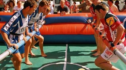 Fussballpaket, gross und attraktiv Fußballspaß