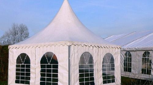 Pagode, Partyzelt für bis zu 11 Personen 3 x 3 m