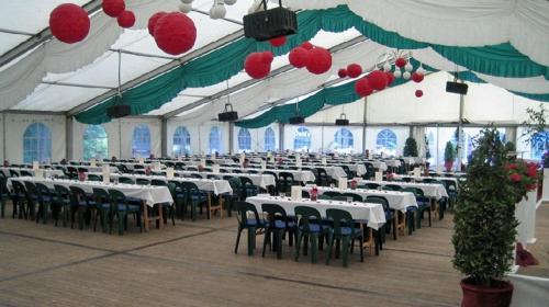Festzelt für bis zu 150 Personen 10 x 15 m