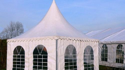 Pavillon z.B. für Verkaufsausstellungen oder Partys mit bis zu 25 Personen 5 x 5 m