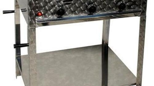 Gas-Grill, 12 KW, Grillfläche: 64 x 52 cm