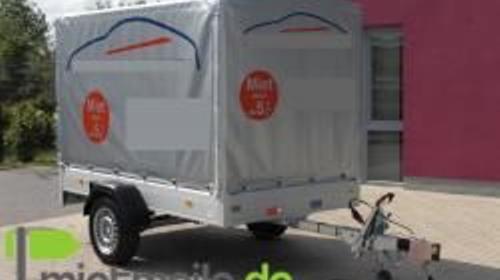 PKW Anhänger mit Plane 1300 kg GG, auch Langzeitmiete möglich