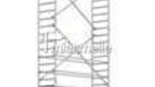 Alu Fahrgerüst Layher 1106 Arbeithöhe 9.6m