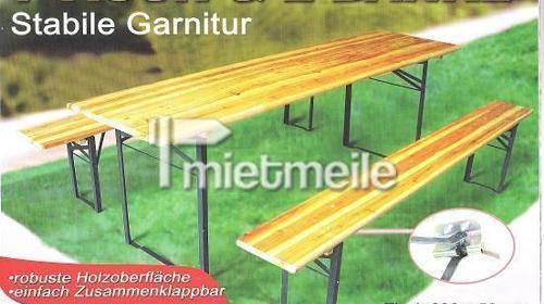 Bierzeltgarnituren 1 Tisch + 2 Bänke Bierzeltgarni