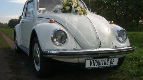VW Käfer 1300 in weiß - Oldtimer und Hochzeitsauto