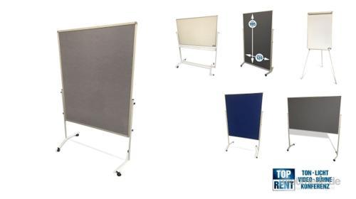 Pinnwand, Flipchart, Whiteboard, Bodentiefe Pinnwand, Moderationswand, Posterwand, Metaplanwand