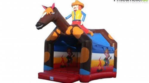 Hüpfburg Cowboy mit Dach (ca. 4 x 5 Meter)