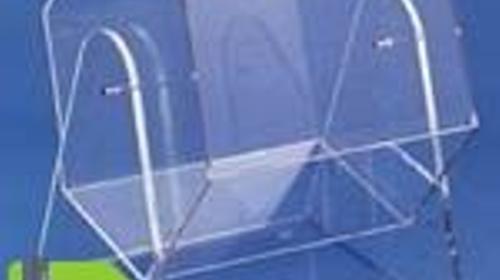 Lostrommel aus Acrylglas, sehr edel
