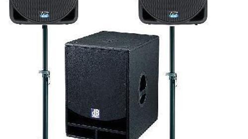 Tonanlage Komplett SET / dB / 1,4 kW RMS / SET