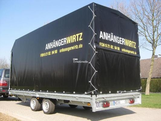 Planenanhänger mieten & vermieten - Planenanhänger Pritsche 5m 2.700kg in Grevenbroich