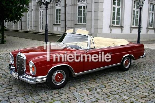 mercedes-benz 220 se cabriolet mieten - 117,00 eur pro stunde