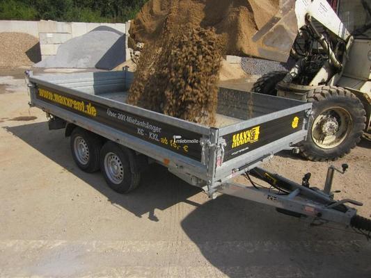 Kippanhänger mieten & vermieten - Kipper/Kippanhänger 3,60m elektrisch, Rampen in Grevenbroich
