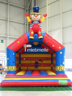 Hüpfburg mieten & vermieten - Große Hüpfburg Clown - mit Dach  in Idstein