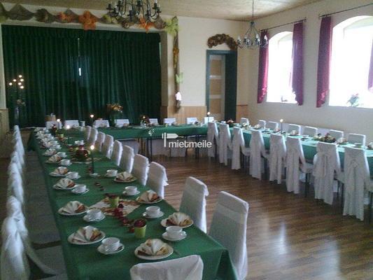 Partyräume mieten & vermieten - Saal für 80 Personen oder Festzelt bis zu 300 Pers in Laußig