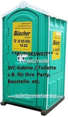 Toilettenkabine mieten & vermieten - GRATIS Lieferung ✔ deutschlandweit: Baustellentoilette | stilles Örtchen | anschlussfreie Toilette | bauklo24.de in Hamburg