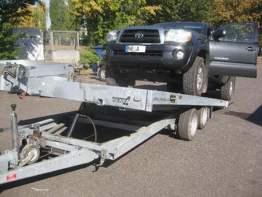 Autoanhänger mieten & vermieten - Maschinentransporter 4,5m 3,5t ankippbar in Grevenbroich
